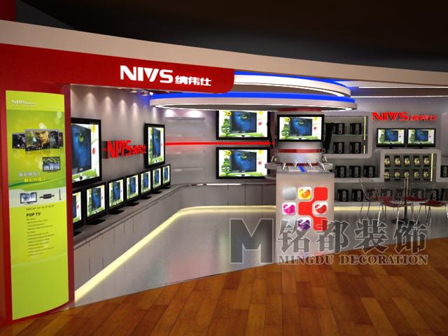 音响店装修,手机店装修,显示器店装修,数码产品店面装修