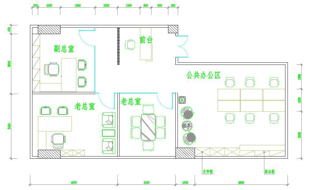 60平米一居室平面设计图展示